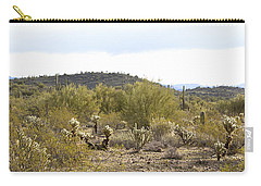 Carry-all Pouch featuring the photograph Desert Sunrise by Phyllis Denton