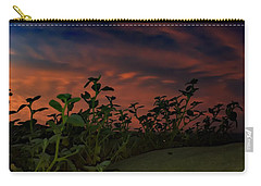 Carry-all Pouch featuring the photograph Desert Sunset by Chris Tarpening