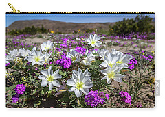 Desert Super Bloom 2017 Carry-all Pouch by Peter Tellone