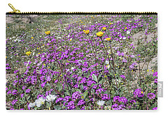 Carry-all Pouch featuring the photograph Desert Super Bloom by Peter Tellone
