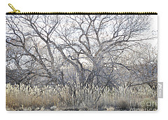 Carry-all Pouch featuring the photograph Desert Tree Willows by Andrea Hazel Ihlefeld