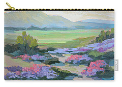 Carry-all Pouch featuring the painting Desert Verbena 1 by Diane McClary
