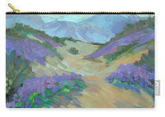Carry-all Pouch featuring the painting Desert Verbena by Diane McClary
