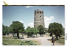 Carry-all Pouch featuring the photograph 1950 Desert View Watchtower Colter by Marilyn Hunt