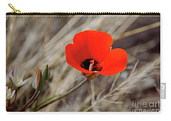 Carry-all Pouch featuring the photograph Desert Wildflower by Frank Stallone