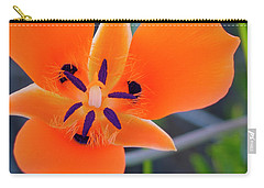 Carry-all Pouch featuring the photograph Desert Wildflower by Penny Lisowski