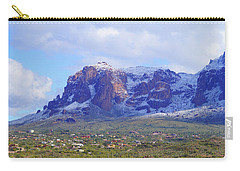 Carry-all Pouch featuring the photograph Desert Winter by Broderick Delaney