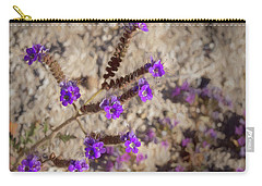 Desert Zig Zag Purple Flower Carry-all Pouch