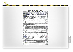 Desiderata-blue Carry-all Pouch
