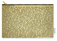 Desiderata By Max Ehrmann Carry-all Pouch