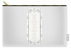 Desiderata In Silver Script By Max Ehrmann Carry-all Pouch