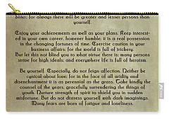 Desiderata Carry-all Pouch by Olga Hamilton