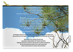 Desiderata Poem Over Sky With Clouds And Tree Branches Carry-all Pouch