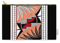 Southwest Collection - Design Three In Red Carry-all Pouch