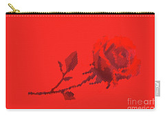 Designer Red Rose Carry-all Pouch