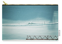Carry-all Pouch featuring the photograph Designs And Lines - Winter In Switzerland by Susanne Van Hulst