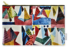 Carry-all Pouch featuring the painting Designs For Pyramids by Mindy Newman