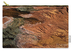 Designs In Stone Carry-all Pouch by Kathy McClure