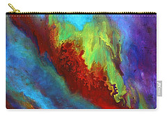 Desire A Vibrant Colorful Abstract Painting With A Glittering Center  Carry-all Pouch