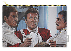 Carry-all Pouch featuring the painting Despiration In His Eyes by Kim Lockman
