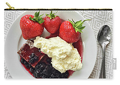 Dessert With Strawberries And Whipped Cream Carry-all Pouch by GoodMood Art