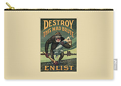 Destroy This Mad Brute - Wwi Army Recruiting  Carry-all Pouch