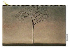 Carry-all Pouch featuring the painting Det Lille Treet - The Little Tree by Tone Aanderaa