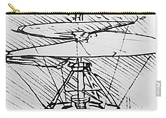 Detail Of A Design For A Flying Machine Carry-all Pouch