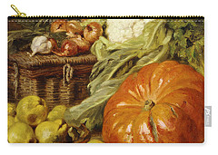 Detail Of A Still Life With A Basket, Pears, Onions, Cauliflowers, Cabbages, Garlic And A Pumpkin Carry-all Pouch