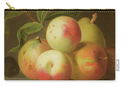 Detail Of Apples On A Shelf Carry-all Pouch by Jakob Bogdany