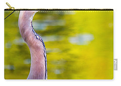 Carry-all Pouch featuring the photograph Details Of A Great Blue Heron  by Parker Cunningham