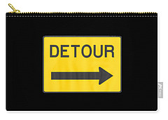 Detour T-shrit Carry-all Pouch by Herb Strobino