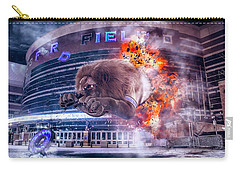 Carry-all Pouch featuring the photograph Detroit Lions At Ford Field 2 by Nicholas Grunas