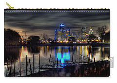 Detroit Reflections Carry-all Pouch by Nicholas  Grunas