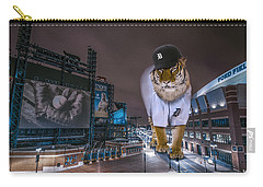 Detroit Tigers At  Comerica Park Carry-all Pouch by Nicholas  Grunas