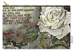Carry-all Pouch featuring the painting Deuteronomy 6 by Mindy Newman