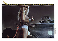 Carry-all Pouch featuring the digital art Devil In Blue Jeans by Shanina Conway