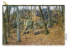 Carry-all Pouch featuring the photograph Devils Lake Rock Formation  by Ricky L Jones