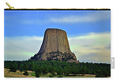 Carry-all Pouch featuring the photograph Devils Tower 002 by George Bostian