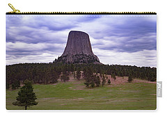 Carry-all Pouch featuring the photograph Devil's Tower 2 by Gary Lengyel