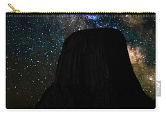 Carry-all Pouch featuring the photograph Devils Tower And Milky Way by Scott Read