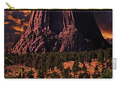 Carry-all Pouch featuring the photograph Devils Tower Sunrise by Scott Read