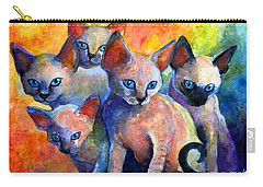 Devon Rex Kitten Cats Carry-all Pouch by Svetlana Novikova