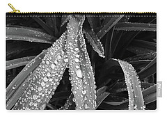 Carry-all Pouch featuring the photograph Dew Drops Await The Sun by Lora Lee Chapman