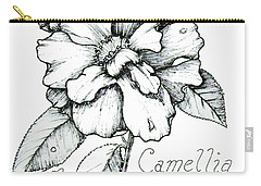 Dew Kissed Camellia Carry-all Pouch
