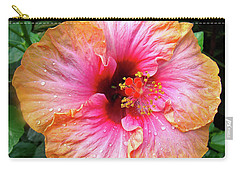 Dew-kissed Hibiscus Carry-all Pouch