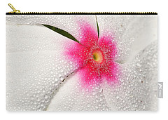 Dew-sprinkled Periwinkle Carry-all Pouch