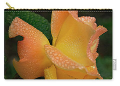 Carry-all Pouch featuring the photograph Dewy Rose by Jean Noren