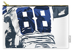 Carry-all Pouch featuring the mixed media Dex Bryant Dallas Cowboys Pixel Art 6 by Joe Hamilton
