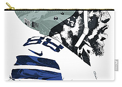 Carry-all Pouch featuring the mixed media Dez Bryant Dallas Cowboys Pixel Art 4 by Joe Hamilton